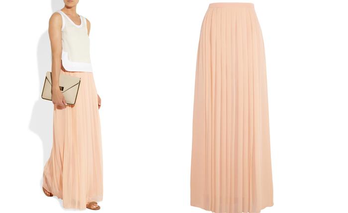 Фото длинной юбки из плиссе